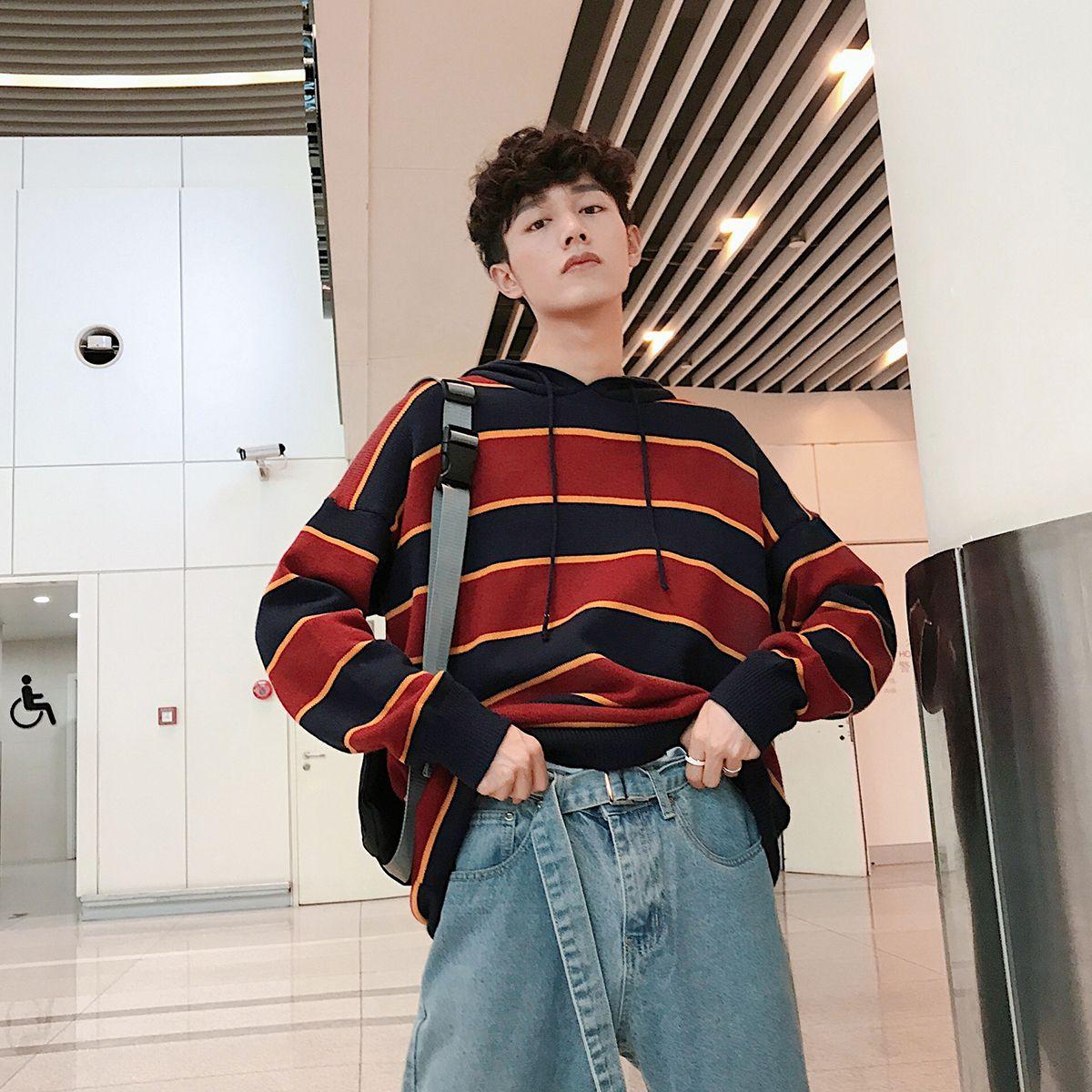 2019 2018 Autumn Winter New Korean Men S Fashion Casual Loose Wide