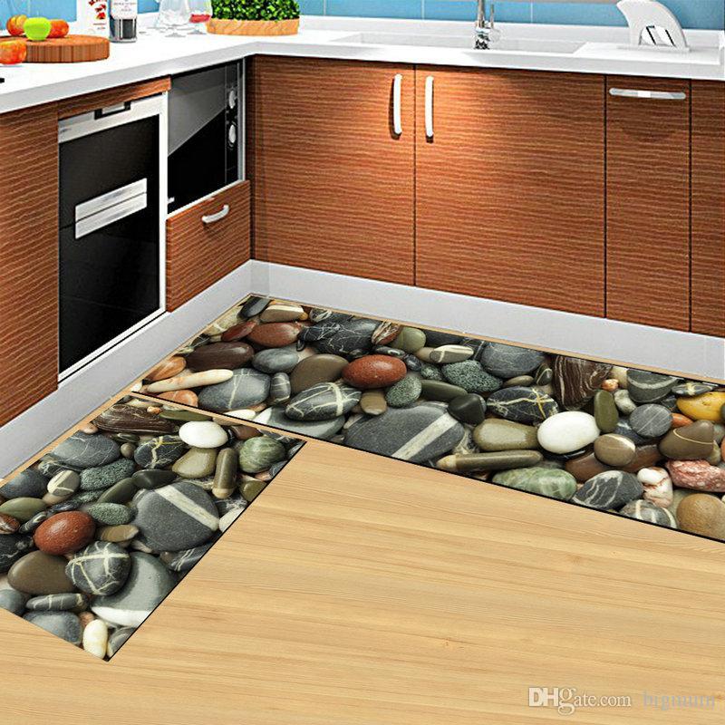 Großhandel Moderne Küche Boden 3d Gedruckt Natur Rutschfeste Matte ...
