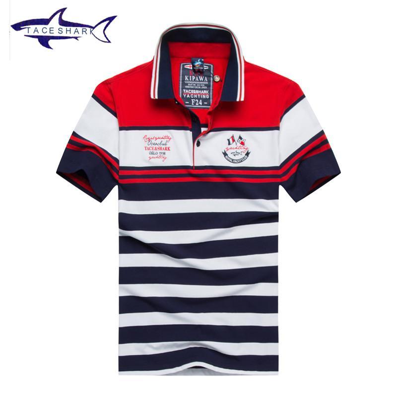 Grosshandel Neue Tace Shark Herren Polo Shirt Marken Top Qualitat