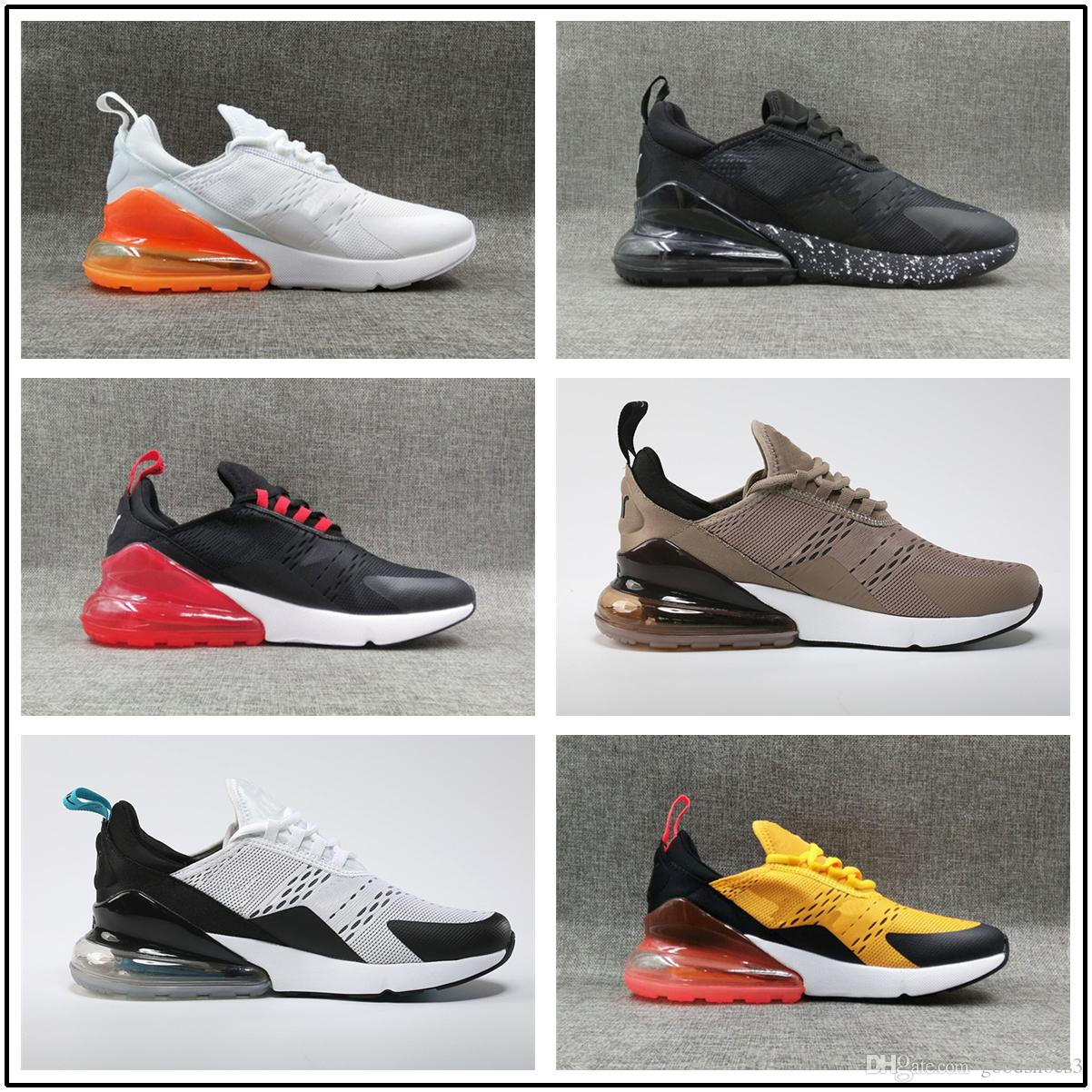 hot sale online 35eea b2b51 Acquista Max Air 270 Airmax270 Shoes Nike 2702018 Flagship Sneakers 27c  Sneakers Uomo Casual Scarpe Uomo 270 Triple Black Sport Stivali Donna Sport  Scarpe ...
