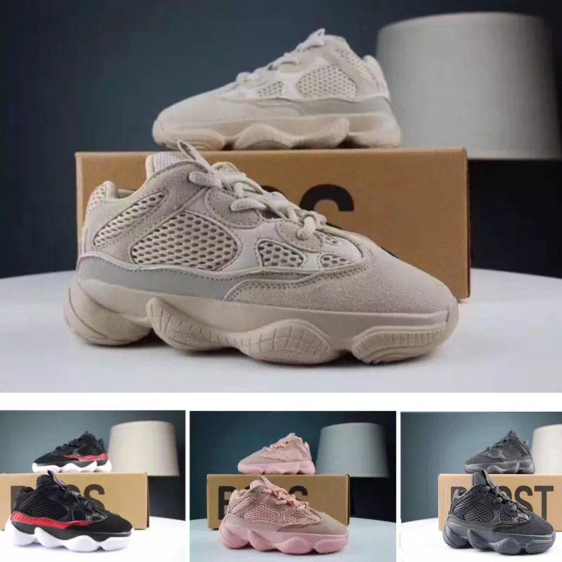 brand new bf9b1 f2878 Hot Sale Kids 500 Sneakers Blush Desert Rat Kanye West Shoes Designer Boy  Girl Running Shoes Black Pink Boys Sneaker Sale Discount Running Shoes  Online From ...