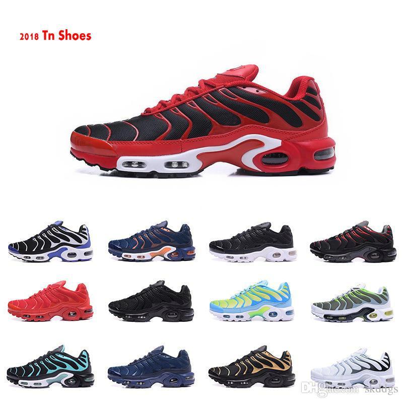 2019 nuevos zapatos Tn para hombre zapatillas de deporte de aire respirable Cusion Tn Plus zapatos casuales Nueva llegada 33 colores 40 46