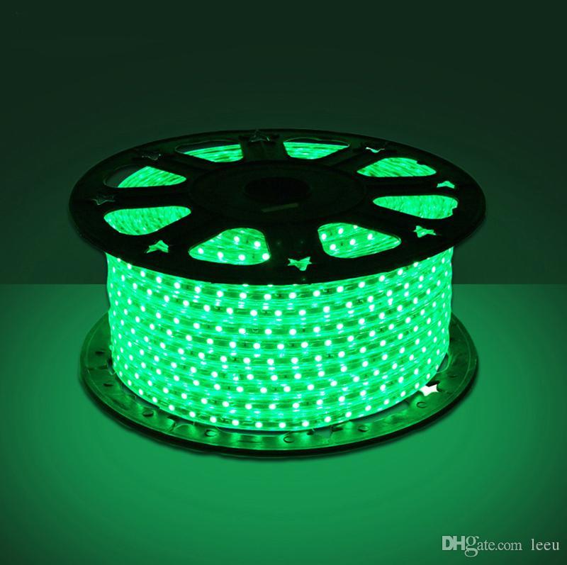 Led-streifen 10 Mt 50 Mt 110 V / 220 V Hochspannung SMD 5050 RGB Led-streifen Lichter Wasserdicht + IR Fernbedienung + Netzteil