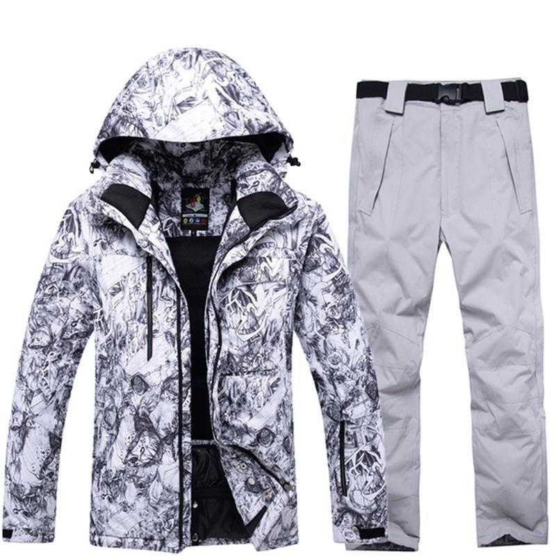 High Quality Ski Wear Mens Winter Windproof Waterproof Warm Snowboard Pants 30 Degree Sports Outdoor Snowboard Jacket Men
