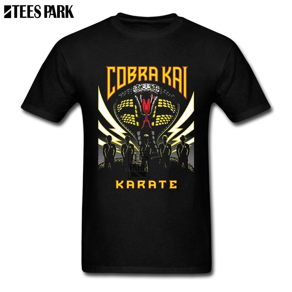 Movie T Shirts Cobra Kai Tv Show Funny T Shirts Men Cotton Tees