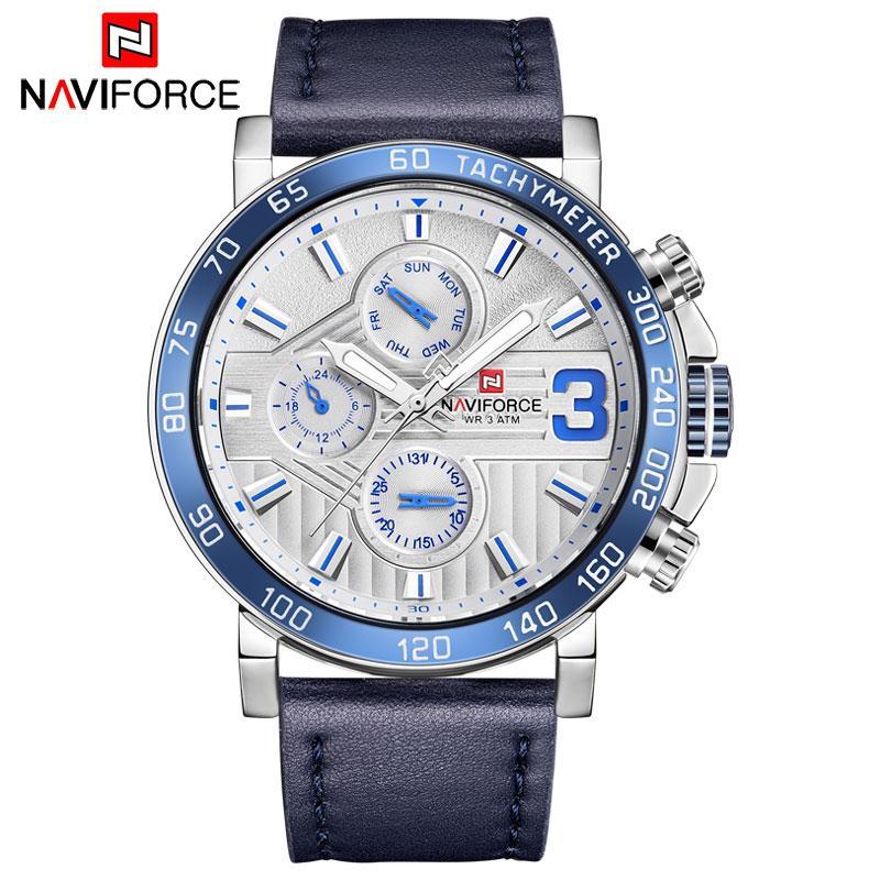 Uhren 2019 Neue Top Luxus Marke Naviforce Lederband Sport Uhren Männer Quarzuhr Sport Military Armbanduhr Relogio Masculino QualitäT Zuerst