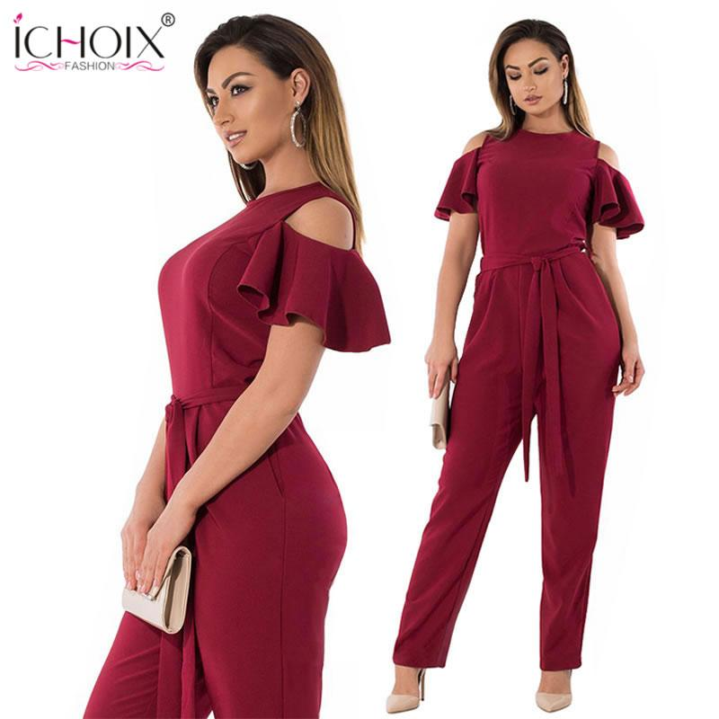 daac4a87b17d 2019 5XL 6XL Summer Plus Size Jumpsuit Women 2018 Sexy Off Shoulder Big Size  Romper Overall Large Casual Female EleJumpsuit From Seein