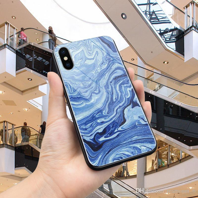 For iPhone 8 Case Cover For iPhone 7 Plus Silicon Frame + Mirror Tempered Glass Back Cover For Apple iPhone X
