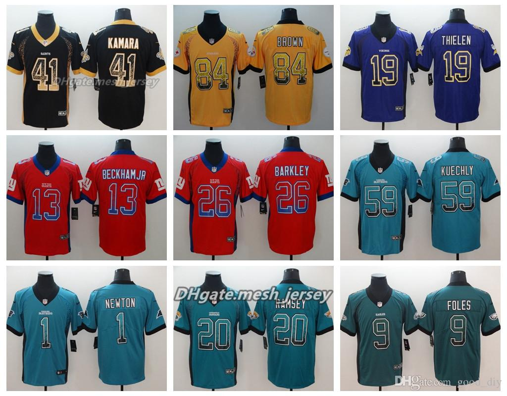 3d26b751da9 2018 Drift New York Giants Jersey Pittsburgh Steelers Panthers ...
