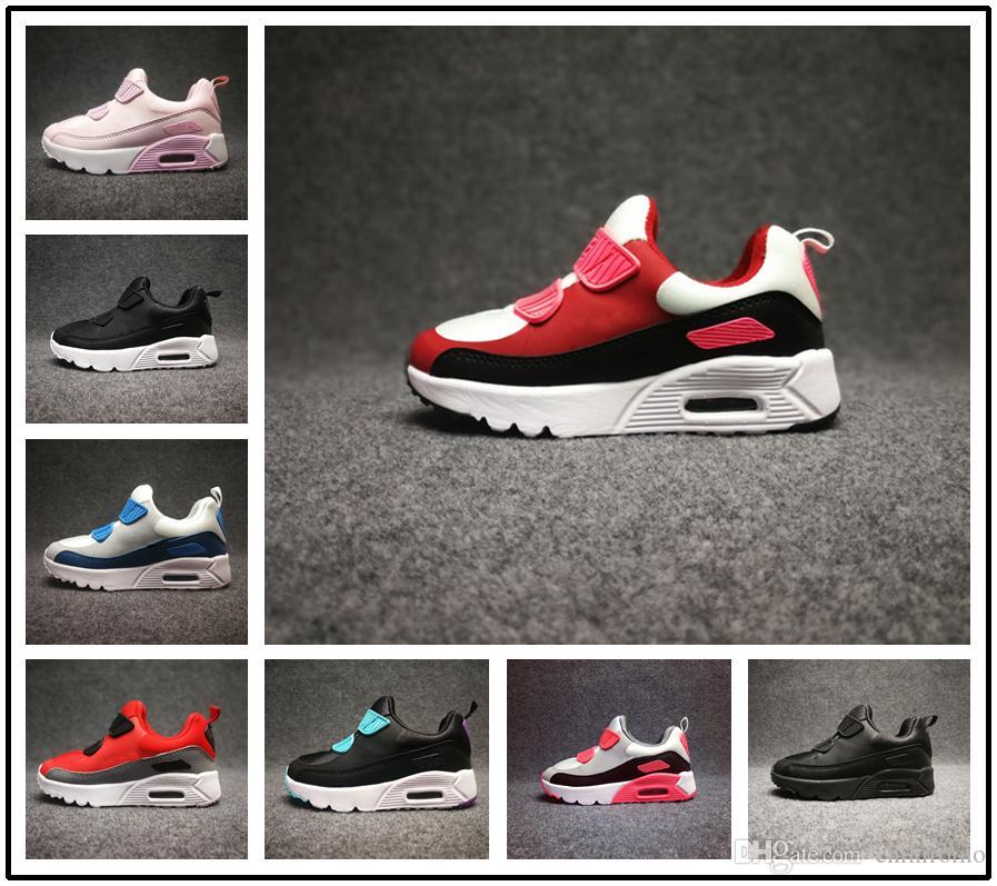 sneakers for cheap b1bd3 836b0 Großhandel Nike Air Max Airmax 90 Heißer Verkauf Neue 90 Turnschuhe Baby Kinder  Schuhe Klassische Junge Mädchen Laufschuhe Kinder Jugend Trainer Luftpolster  ...