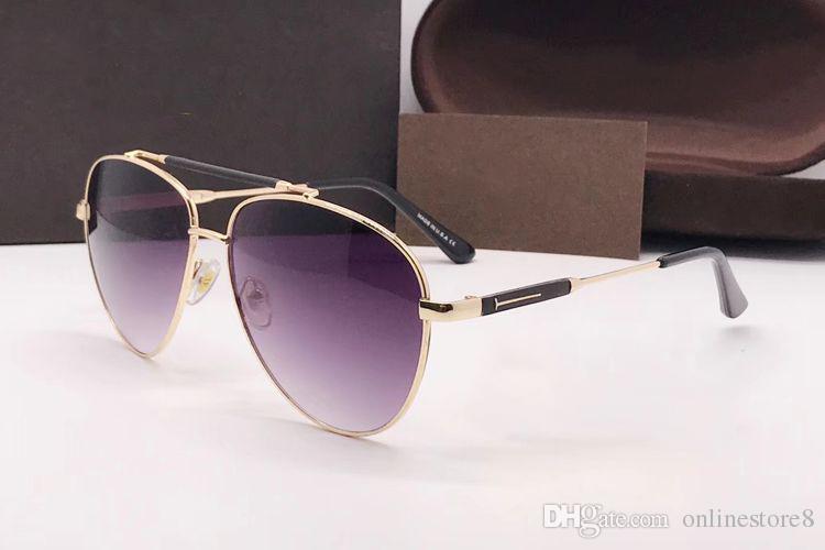 432ac30f9d Luxury Top Qualtiy New Fashion Pilot 538 Tom Sunglasses For Man Woman  Eyewear Designer Brand Sun Glasses Oculos De Sol With Box Victoria Beckham  Sunglasses ...
