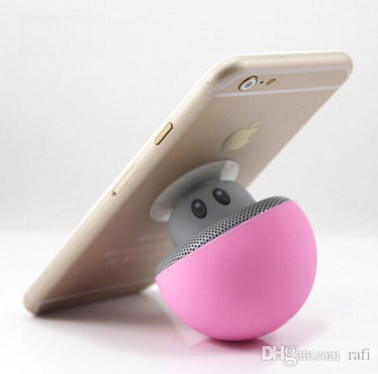 Best Quality Mushroom head Hands free Bluetooth stereo cute mini wireless Bluetooth portable speaker hot item by dhl