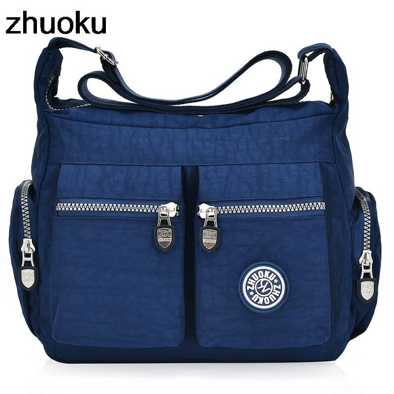 ZHUOKU New Women Top-handle Shoulder Bag Designer Handbags Famous Brand  Nylon Female Casual Shopping Tote Hobos Bolsas 492a019728