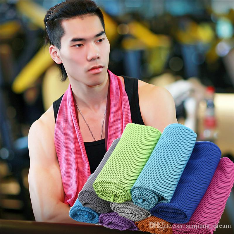 Double Layers Ice Cold Towel Quick Dry Cooling Towels Summer Instant Ice Cool Sports Dry fit Towels for Fitness Outdoor Traning OPP Bags NEW