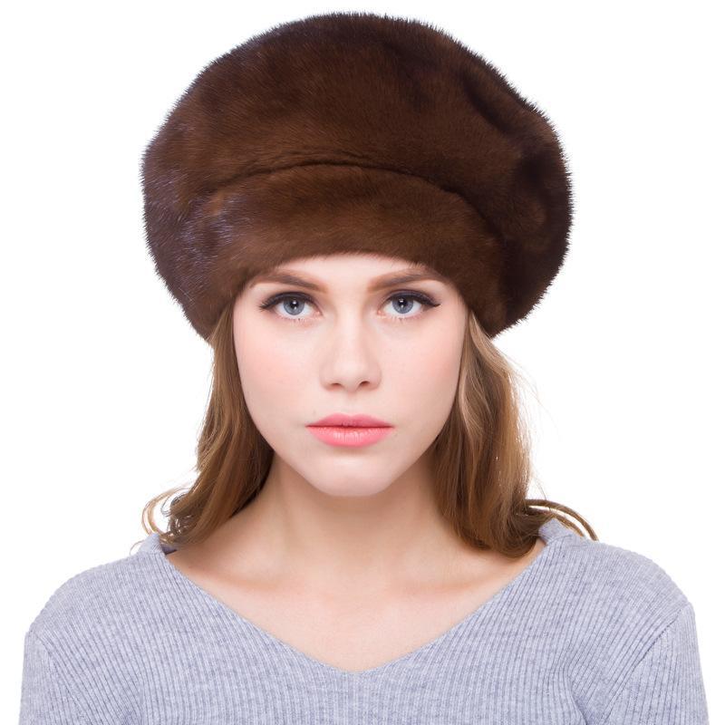Compre De Lujo De Las Mujeres Rusas Verdaderas Boinas De Los Sombreros De  Las Mujeres Casquillo Caliente Del Invierno Sombreros De La Manera LF5097 A  ... 8c378bbd82a