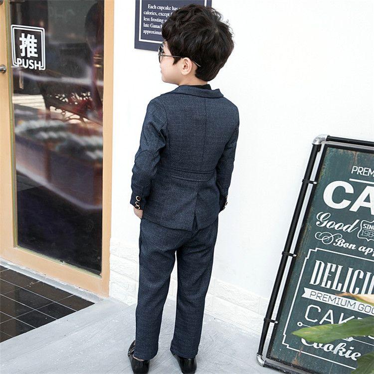 2 Adet / takım Çocuklar Boys Düğün Çocuklar Için Suits Blazer Erkek Giysileri Setleri Resmi Klasik Kostümleri Çocuk Düğün Suits Için Boy 3-8Y