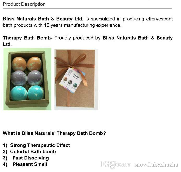540G/box Bath Bombs Natural Ingredient essential oil strong therapeutic effect colorful bath bomb fast dissolving pleasant smell