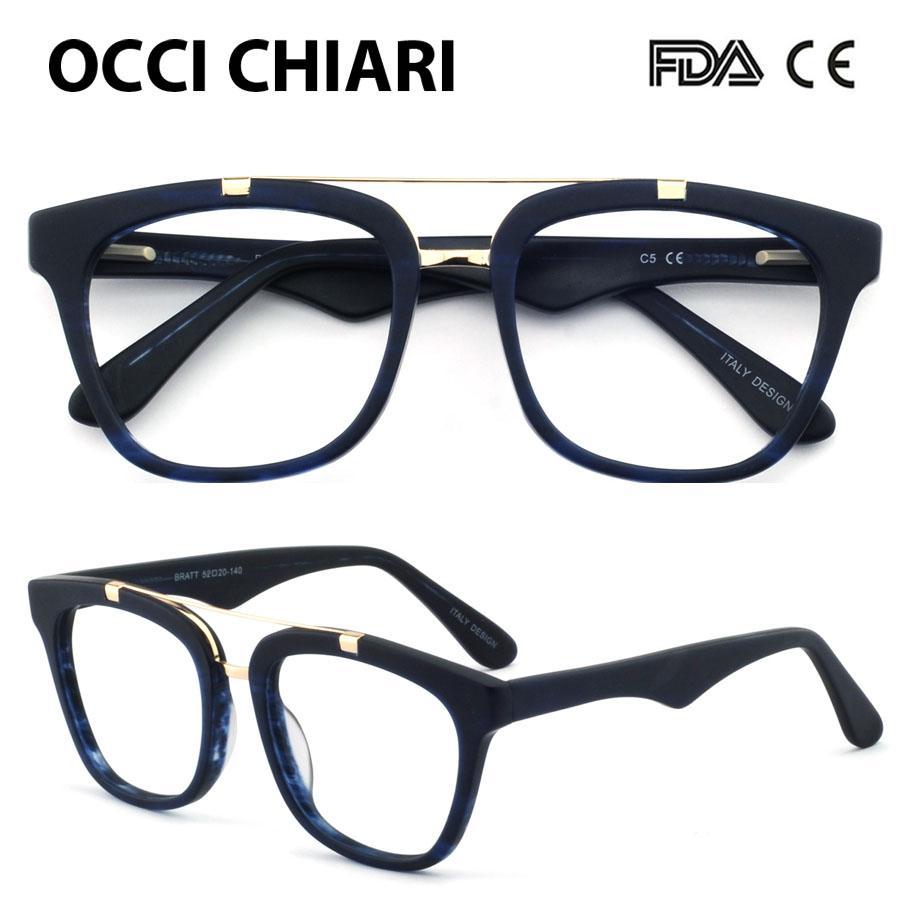4a8c4c3ea6c 2019 OCCI CHIARI Eyewear Spectacles Women Optical Glasses Full Rim Frames  Clear Lens 2018 Fashion Acetate Myopia Eyeglasses OC7033 From Baozii