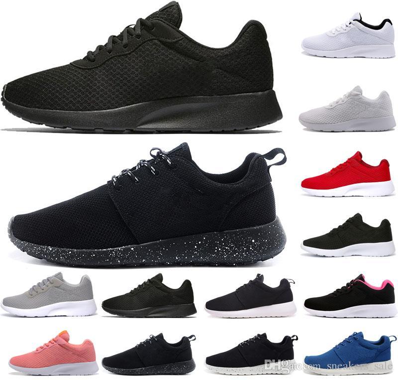 f1ac967102 Acheter Nike Air Rose Run One Hot Tanjun London Mens Femmes Chaussures De  Course 1.0 3.0 Triple Blanc Noir Avec Symbole Rouge Rose Gris Bleu  Formateurs ...