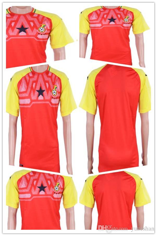 8a829ea9d0e 2019 Football Uniform Shirt 2018 World Cup Ghana Home ESSIEN JAYEW A AYEW M  WAKASO BABA Soccer Jersey Thai Discount From Yuzeshan