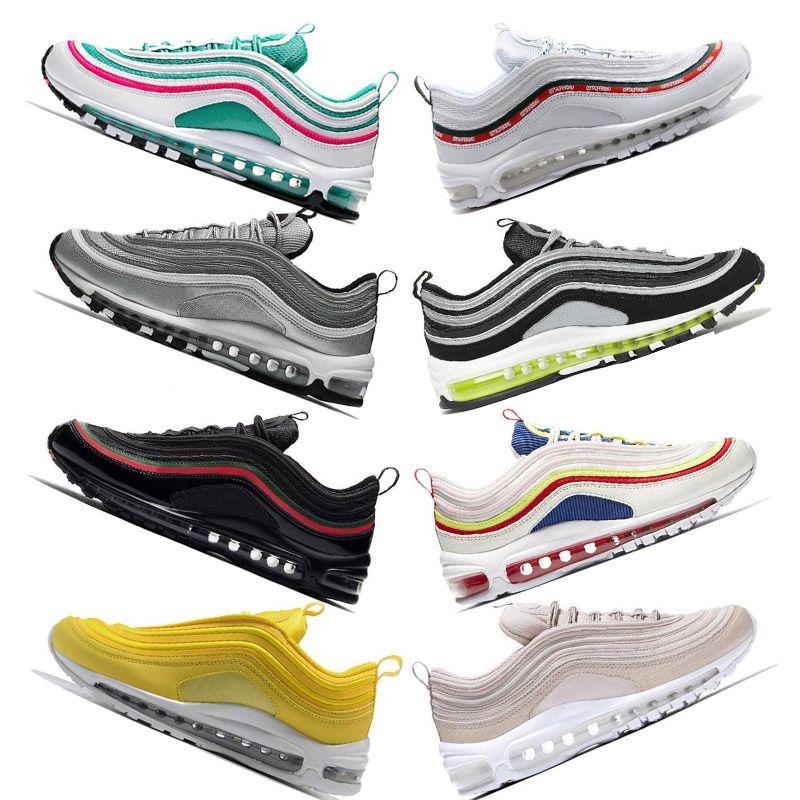 big sale 03f79 98aa5 Compre Nuevos Chaussures Entrenadores De Lujo Invictos Nike Air 97 Zapatos  Blanco Negro Rosa Escalas Para Hombre Zapatillas Para Mujer Zapatillas De  Deporte ...