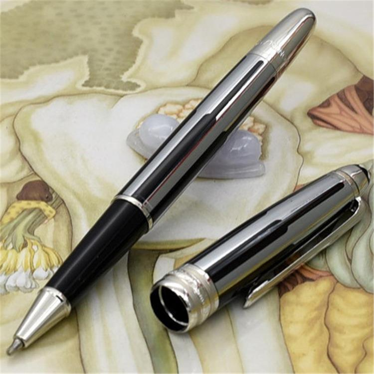 Alta calidad a estrenar negro y oro rayas roller ball pen / bolígrafos de lujo pluma estilográfica al por mayor regalo envío gratis