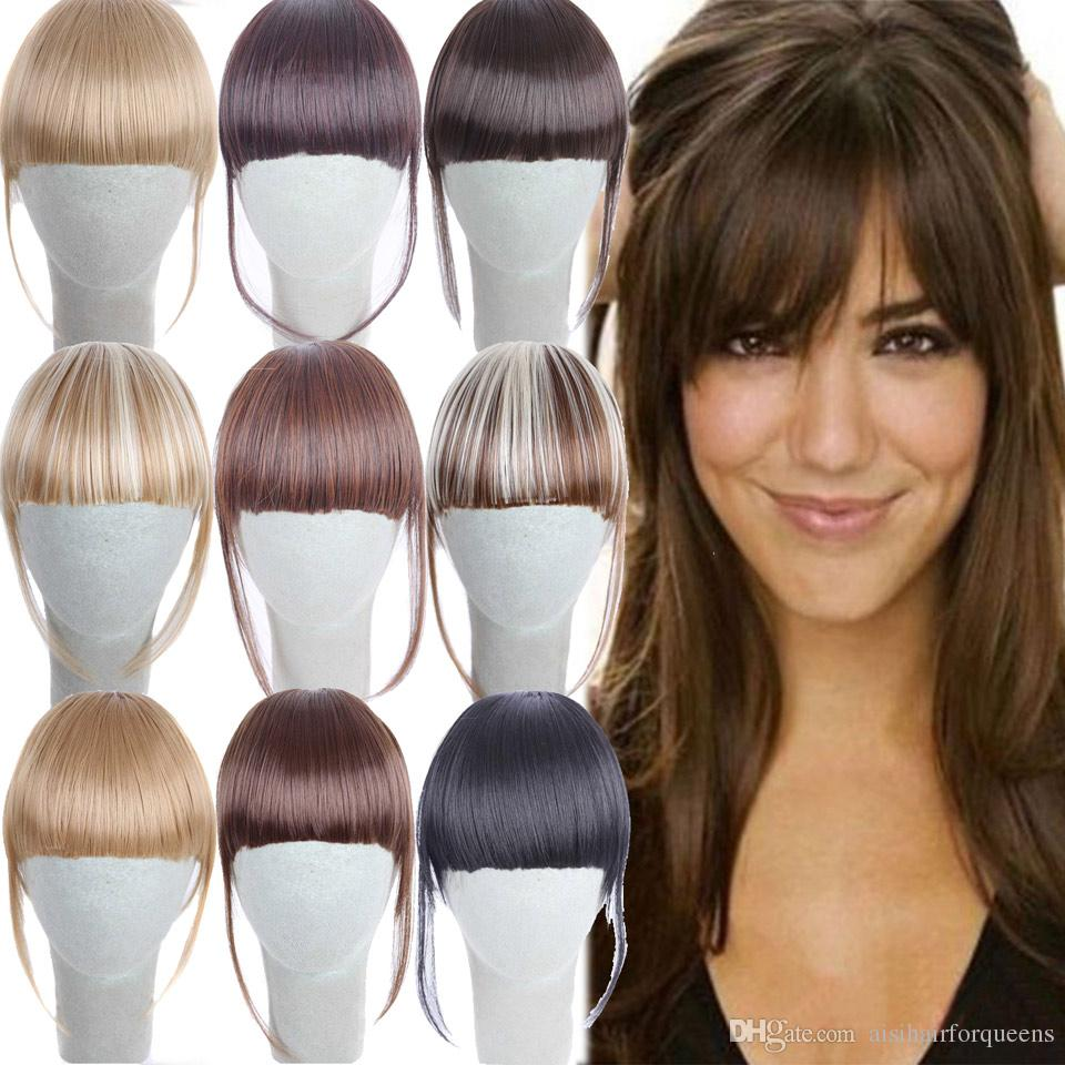 Synthetic Clip On Hairpiece Extensions Straight Clip In Front Hair Bang  Fringe Hair Extension For Women UK 2019 From Aisihairforqueens 0788b9d681