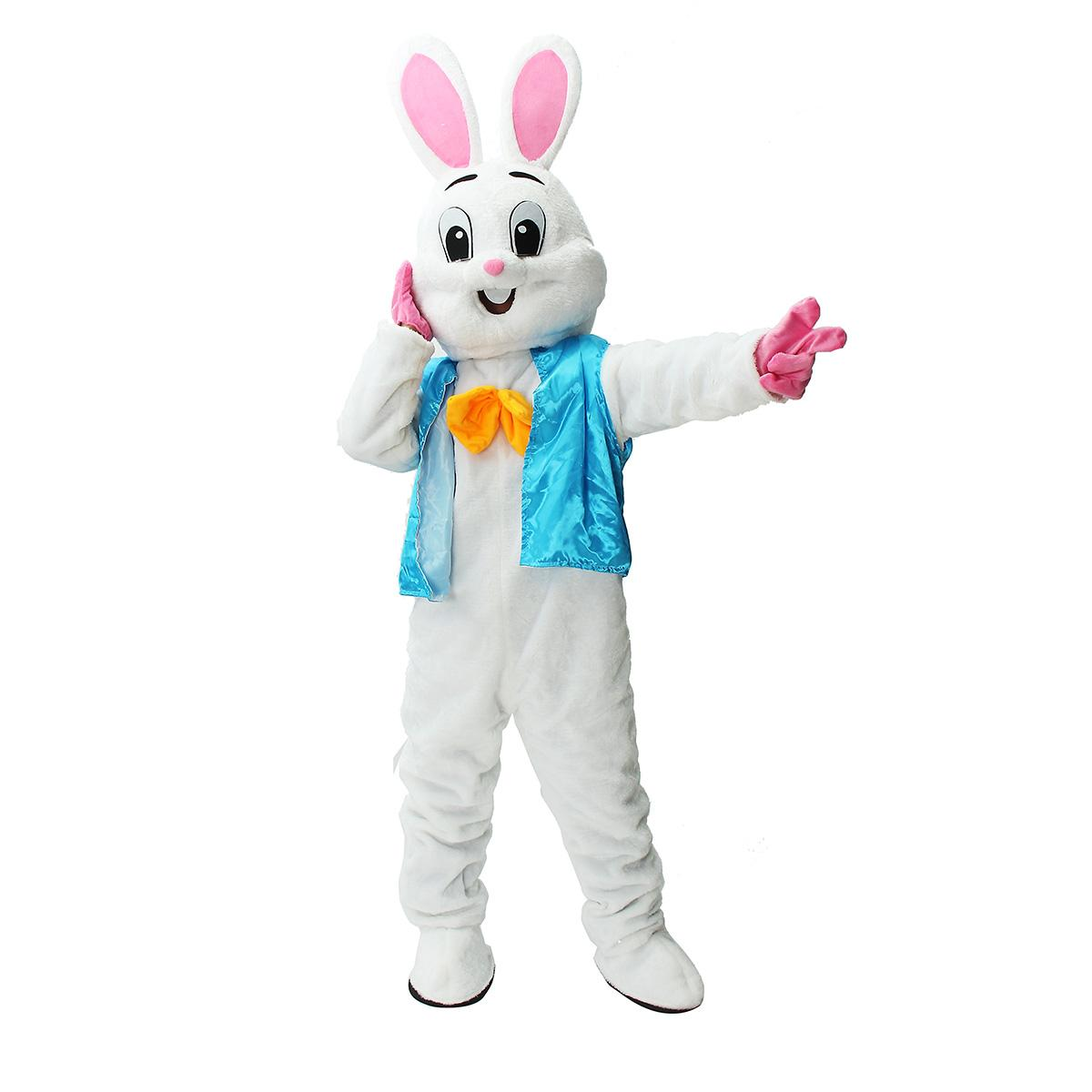 New Professional Easter Bunny Mascot Costume Bugs Rabbit Cartoon Fancy Dress Adult Size Cartoon Suit For Event Party Decor