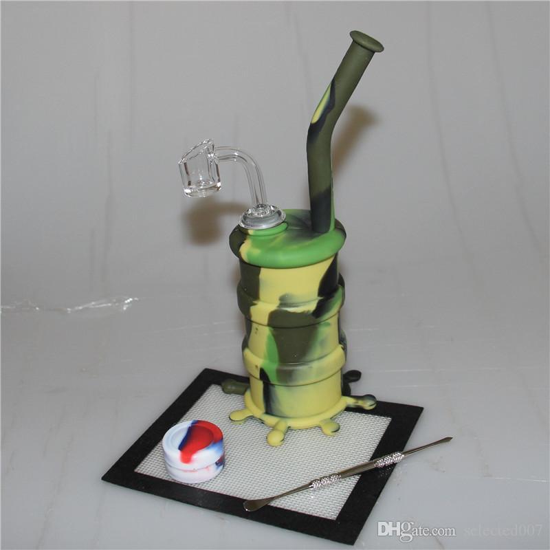 Óleo de silicone portátil narguilé bong cachimbo de água de silicone com 4mm de espessura quartzo banger dabber recipiente de esteira de silicone