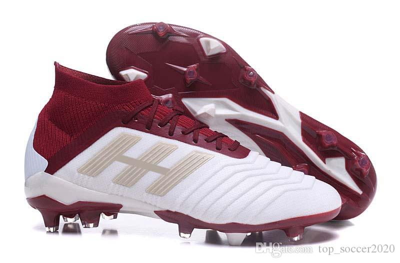 febb00c91 2018 Supply Lowest Discount Top Quality Football Boots Predator 18+ 18.1 FG  Soccer Shoes PREDATOR ACCELERATOR Soccer Cleats From Top soccer2020