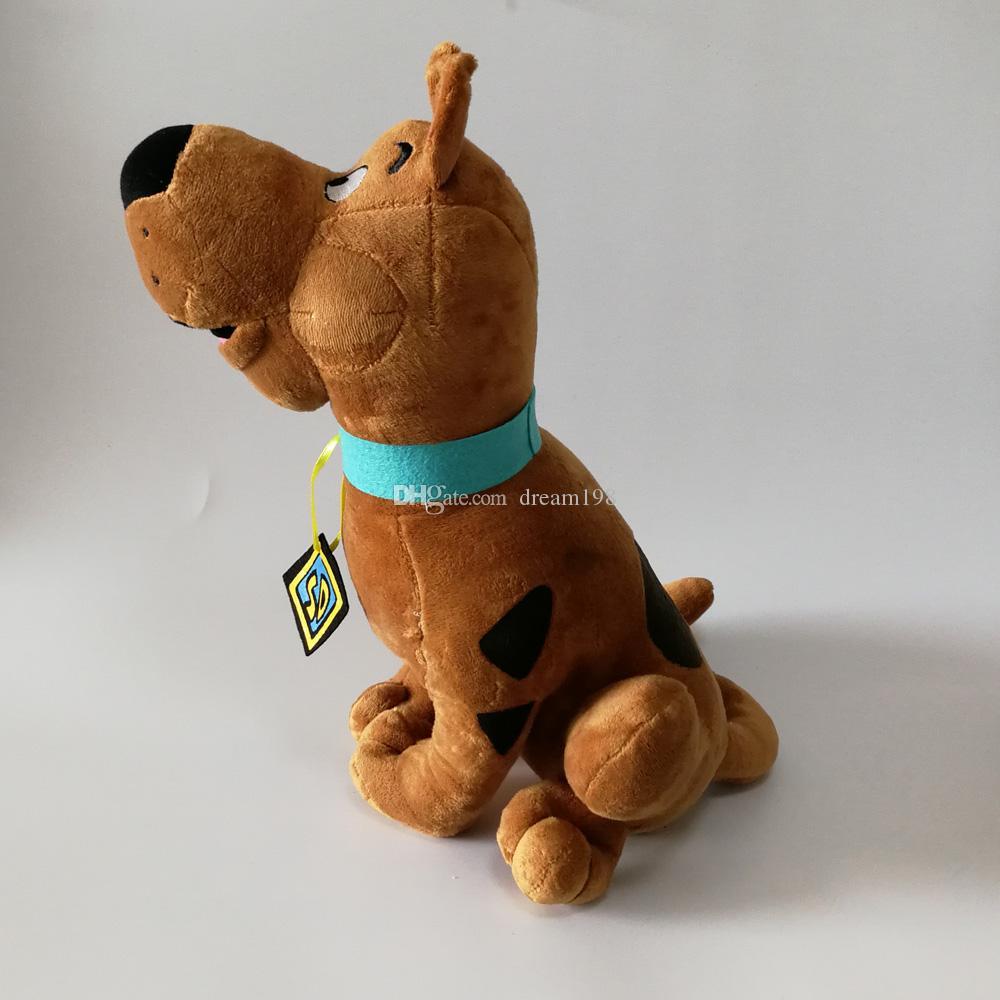 Новый аниме милый мультфильм игрушки мягкие Скуби Ду собака куклы плюшевые игрушки для детей подарки 33 см
