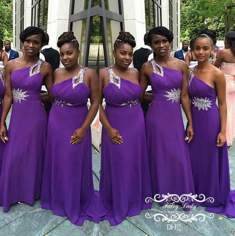 Purple and Silver Bridesmaid Dresses