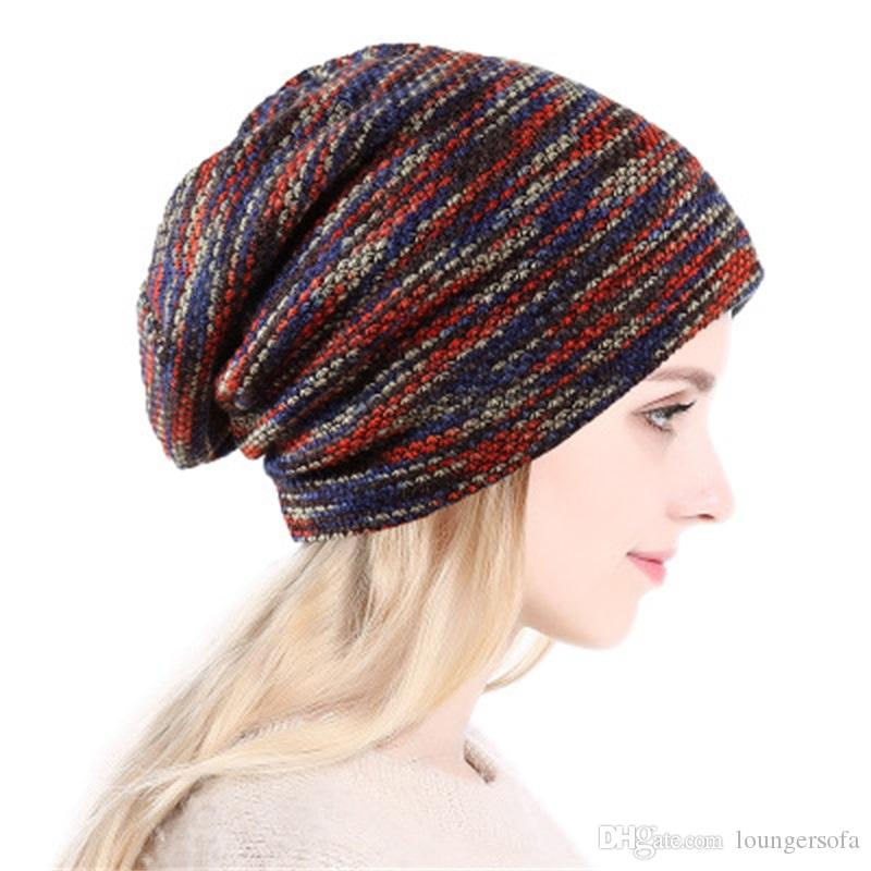 Beautiful Autumn Winter Wool Knitted Hat Fashion Warm Beanies Hats Casual Women Solid Adult Bulb Caps Cover Head Apparel Accessories
