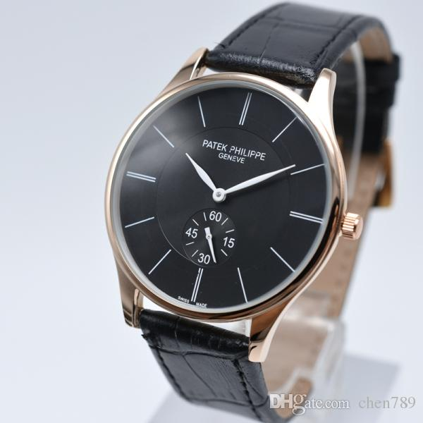 8d9e6c60347 Men Fashion Leather Strap Quartz Watch Luxury Men Watch Casual Men S Sports  Watch Famous Mens Watches Wholesale Relogio Masculino Reloj Watch Buy  Online ...