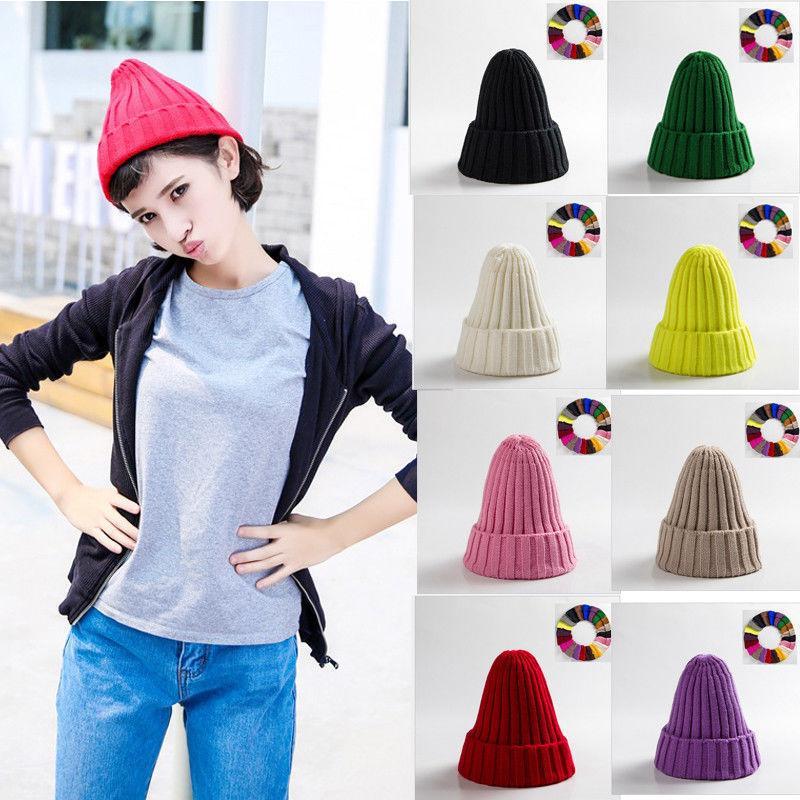 1b5f2ac458f Men S Women Beanie Knit Ski Cap Hip Hop Blank Color Winter Warm Unisex Hats  Skullies UK 2019 From Hupiju