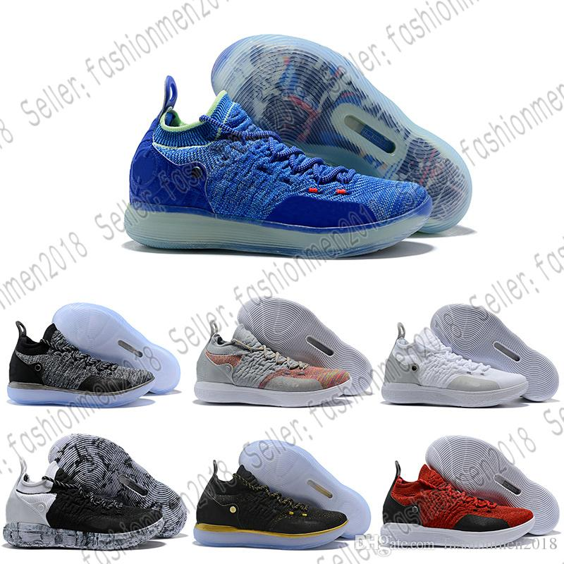 922a9a4d8a0 With Box New Arrival KD 11 EP Oreo Ice Blue Sports Basketball Shoes ...