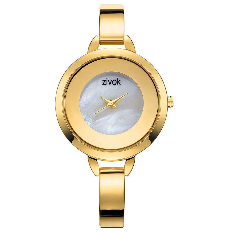 b5e4c27df0ae Compre Zivok Marca Mujeres De Lujo Pulsera Relojes Mujeres De Moda Vestido  De Reloj De Las Señoras De Cuarzo Deporte Reloj De Oro Rosa Zegarek Damski  A ...