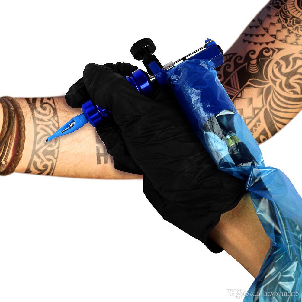 100 Stücke Kunststoff Blau Tattoo Clip Cord Ärmel Abdeckungen Taschen Versorgung Neue Heiße Professionelle Tattoo Zubehör Accessoire de Tattoo