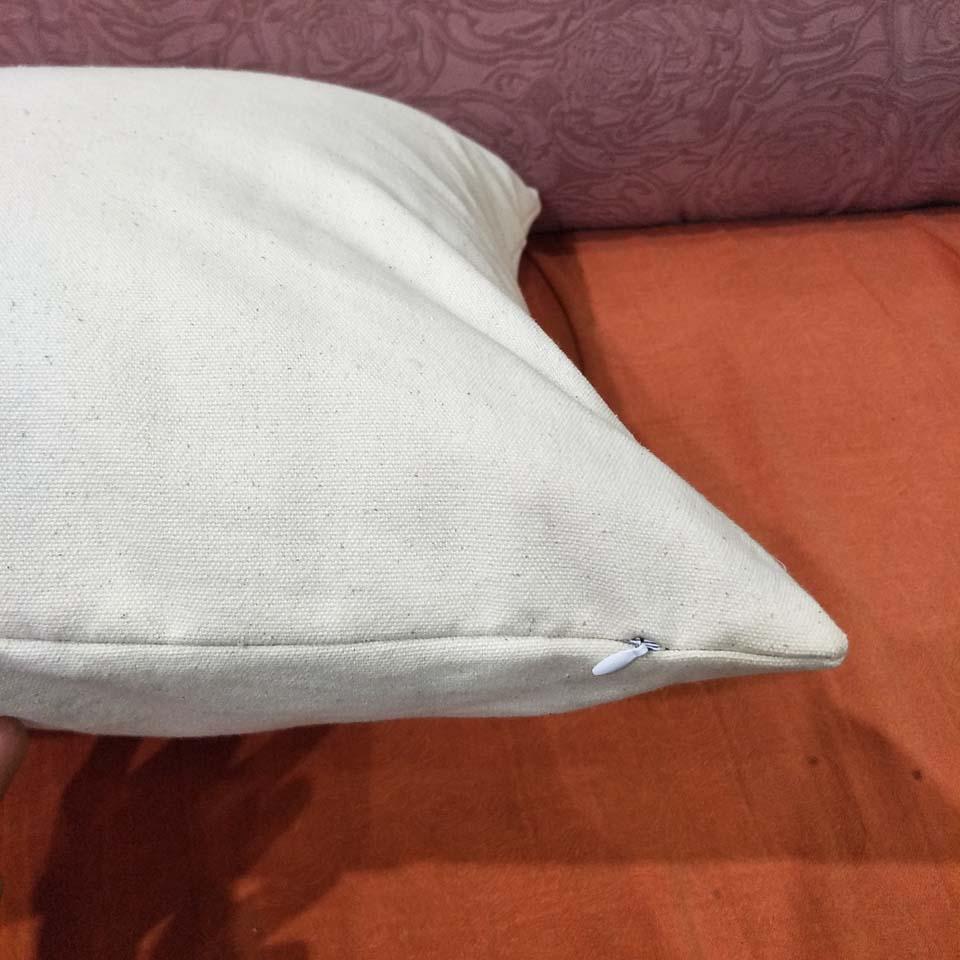 DIY boya / baskı boş pamuk kanvas dekoratif yastık kılıfı fabrikasında doğrudan için 18x18in boş 12oz doğal pamuk kanvas yastık kılıfı