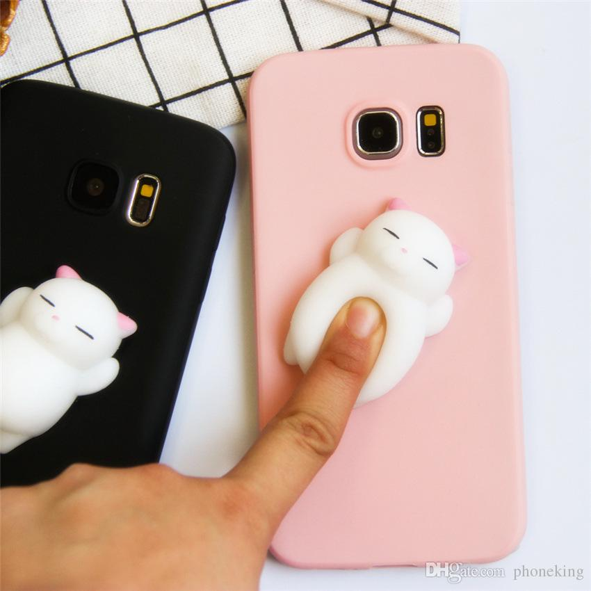 watch c626a 65ea9 3D Squishy Phone Case For Samsung Galaxy S9 Case Soft Silicone Cute Cartoon  Cat Bear Cover For Samsung S9 Plus Coque