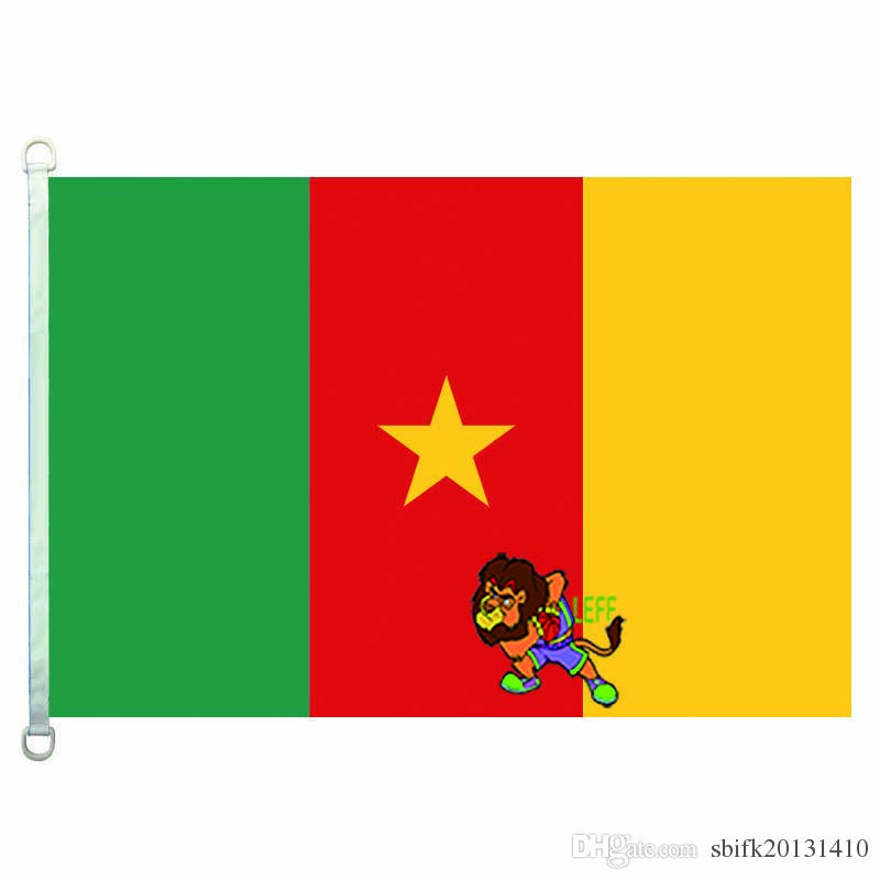 Cameroon flag,90*150CM ,100% polyester, banner,Digital Printing