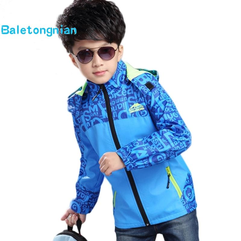 32e20c88a98a6 Boys Jacket Coat Spring Autumn Fashion Teenagers Clothes Kids Children  Jacket Outwear Children Coat School Sport Clothing 2018