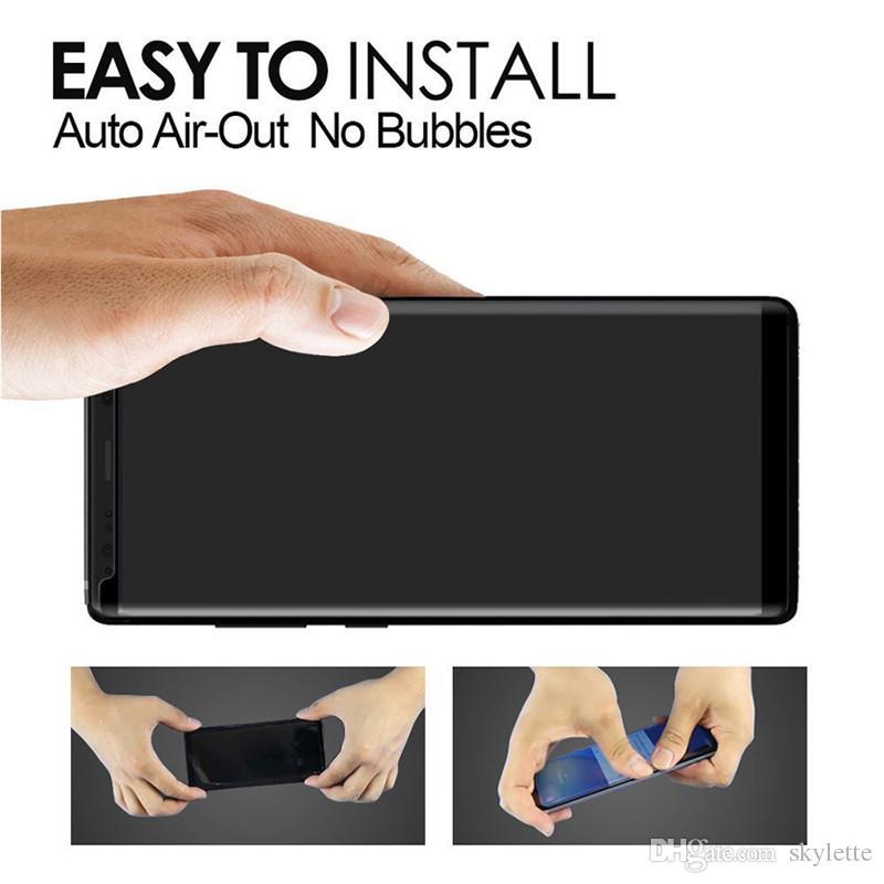 2018 Case Friendly закаленное стекло для Samsung Galaxy S9 Note 8 Note8 S8 Plus S7 Edge 3D изогнутый Case версия полный клей протектор экрана телефона