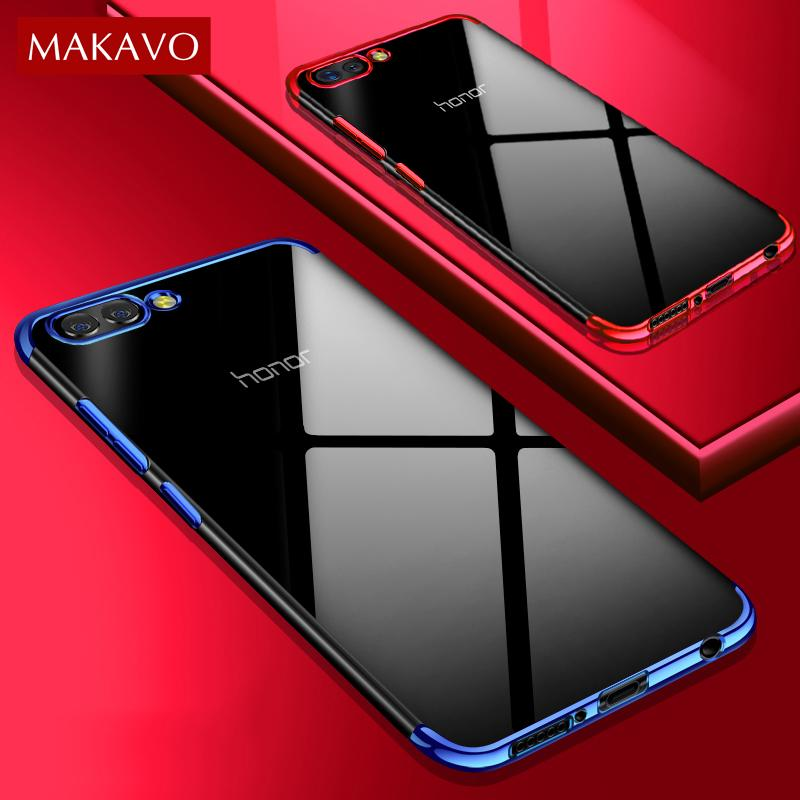 For Huawei Honor 10 Case Luxury Soft Silicone Transparent Plating Cover For  Honor View 10 View10 P20 Lite Pro Phone Cases