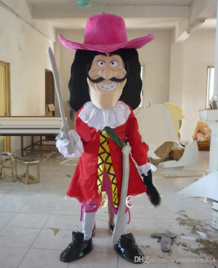 Captain Hook Mascot Costumes Animated Pirates Cospaly Cartoon Mascot  Character Adult Halloween Party Carnival Costume Belle Costumes Costumes  For Sale From ... a63eee3f12dc