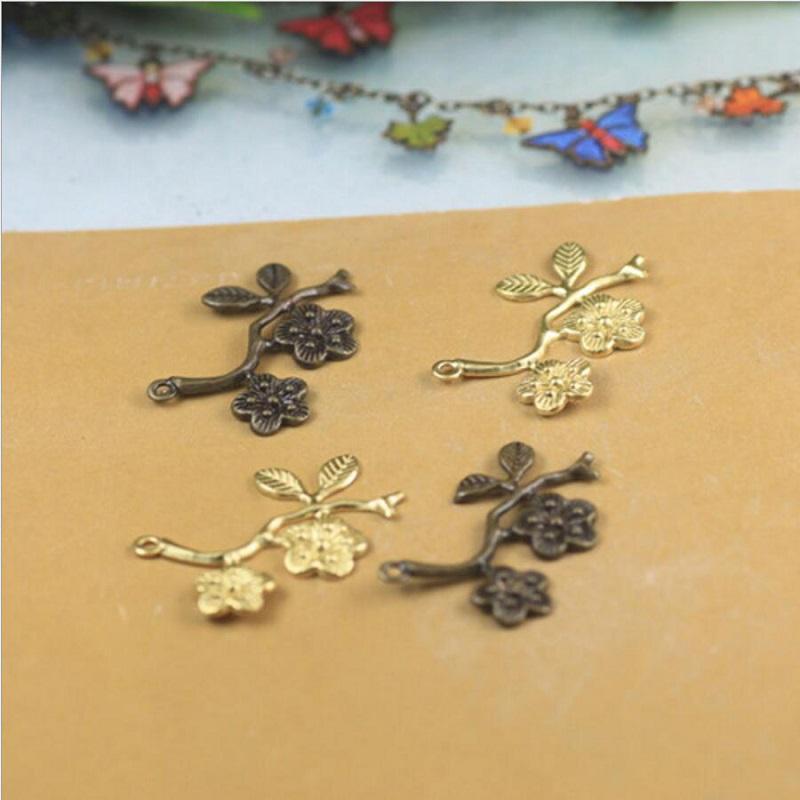 Takı için 29mm boncuk DIY bilezik kolye küpe Broş Kolye Yüzük Karalama Defteri perçin saç Aksesuarları iki çiçek yaprak