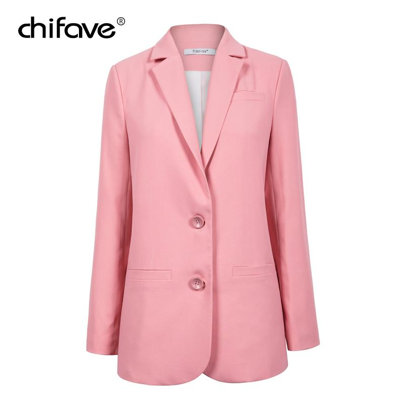 eea91b4ef55d 2019 Chifave Woman Slim Short Suit Jacket Women'S Basic H Style Sweet Pink  Blazer Elegant Pockets Autumn Blazer Female 2018 Plus Size From Blairi, ...