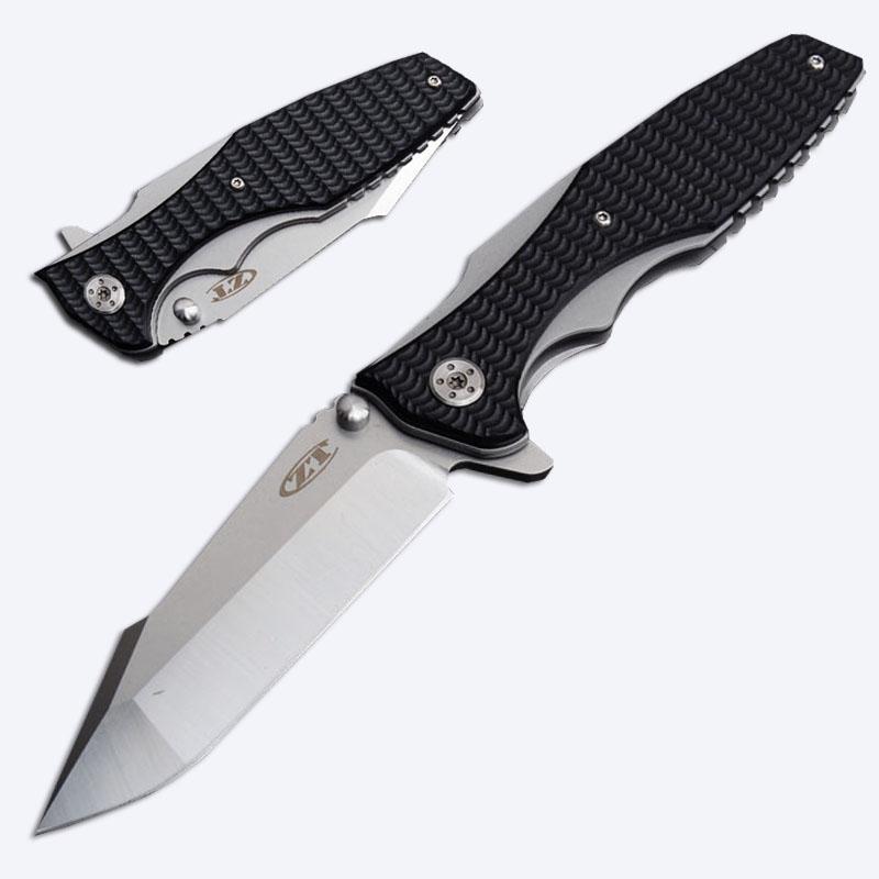 Newest 2 Styles Zero Tolerance ZT0393 Outdoor Folding Pocket Knife Flipper  Assisted Opening Folder 440 Blade EDC Hunting Knives P439F