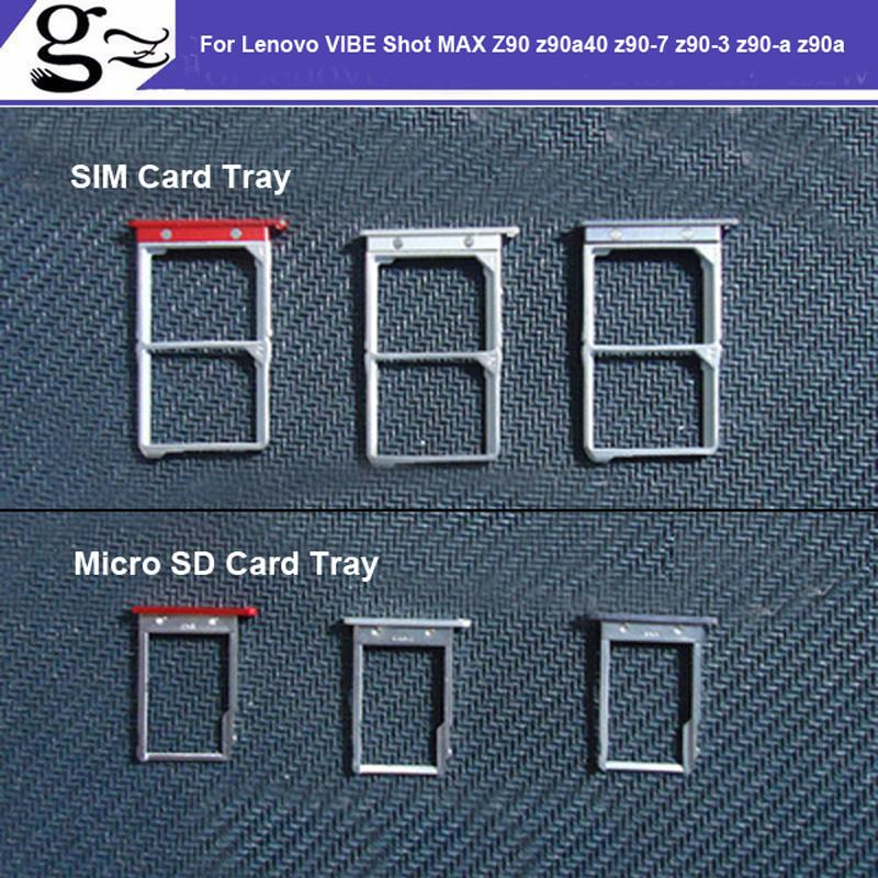 For Lenovo VIBE Shot MAX Z90 z90a40 z90-7 z90-3 z90-a z90a SIM Card Tray  Micro SD Card Tray Holder Slot Adapter Socket