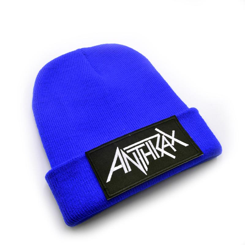 2019 Latest Model Anthrax Band Logo Wool Beanies Knit Men S Winter Hats For  Men Women Beanie Warm Baggy Outdoor Sports Hat From Qingfengxu 3ab4512c654